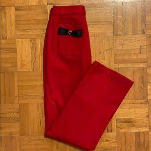 Red St. John Sport slacks